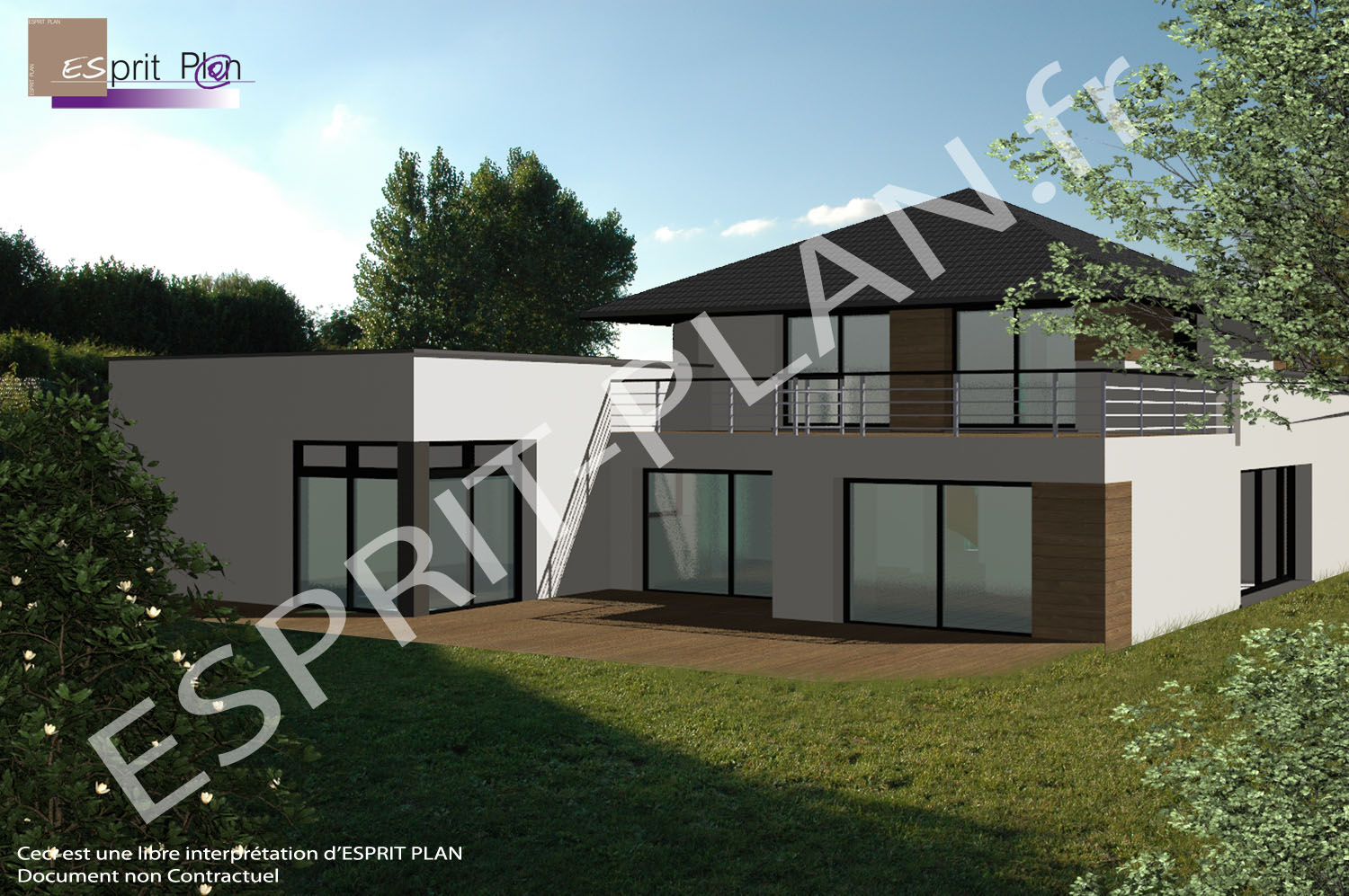 Index of image du site esprit pl n for Plan maison contemporaine bbc