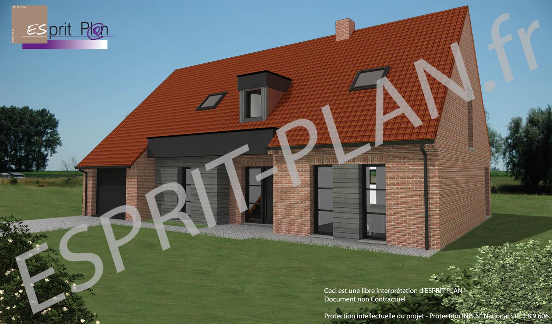 maison en brique moderne idaces with maison en brique. Black Bedroom Furniture Sets. Home Design Ideas
