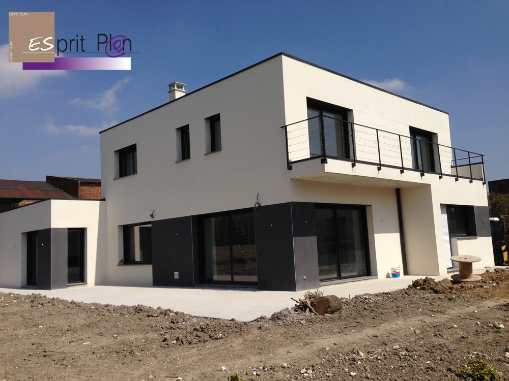 Realisations maison extensions renovations sur arras for Plan villa moderne 200m2