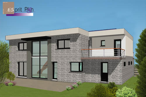 Perspective maisons design passive bbc for Style architectural maison