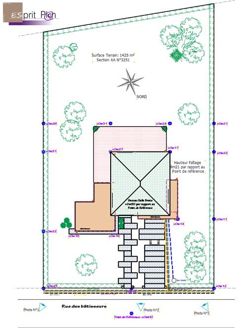Wonderful plan de masse garage images best image engine for Permis de construire veranda 20 m2
