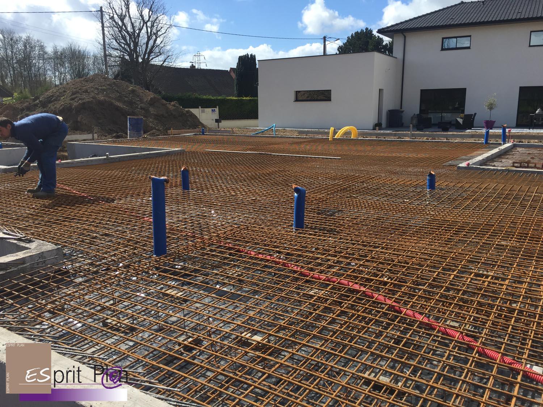 Projet En Cours De Construction Arras Bethune Radier Vide Sanitaire Pieux
