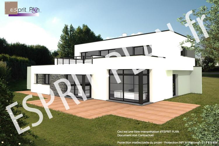 Plan Maison Moderne Cubique - onestopcolorado.com -