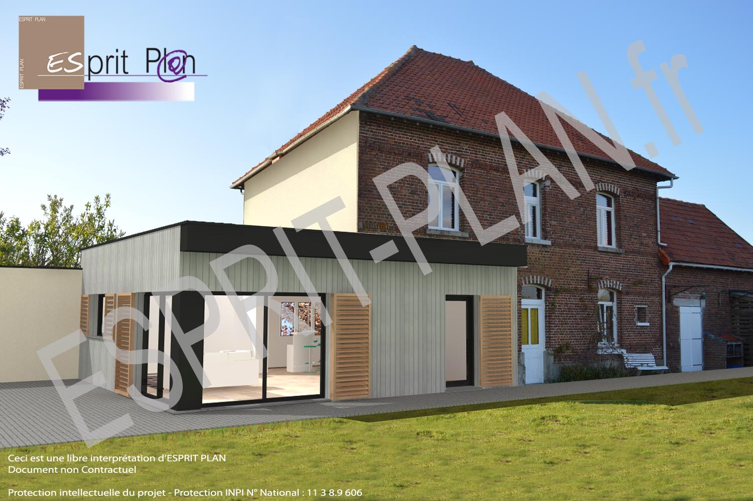 Avant projet maison extensions renovations sur arras for Agrandissement maison individuelle