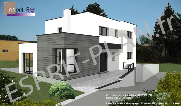 Trendy maison cubique sous sol nord pas de calais lille - Plan de maison cubique ...