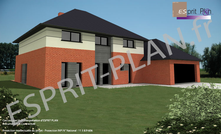 Plan maison contemporaine nord pas de calais for Constructeur maison individuelle nord pas de calais