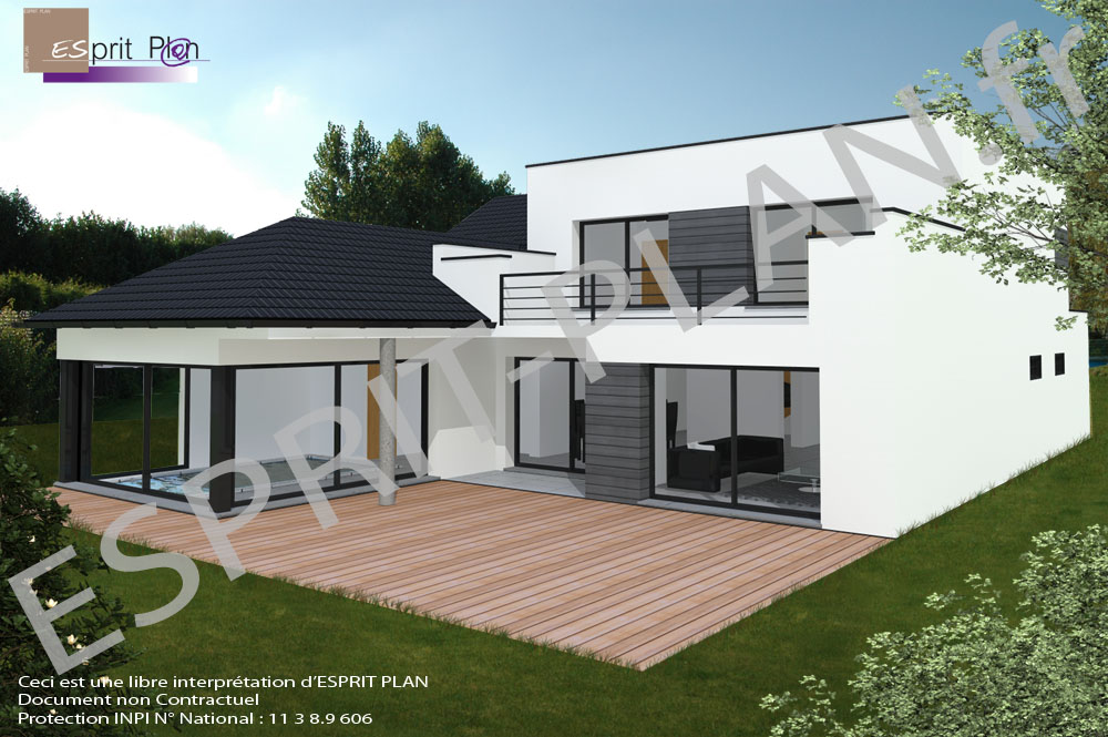 Avant projet maison extensions renovations sur arras for Plan maison neuve contemporaine