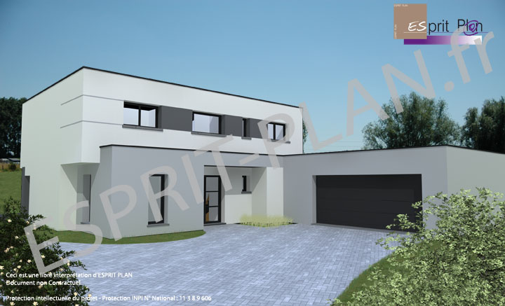 Plan de maison moderne related keywords plan de maison for Photo de maison moderne