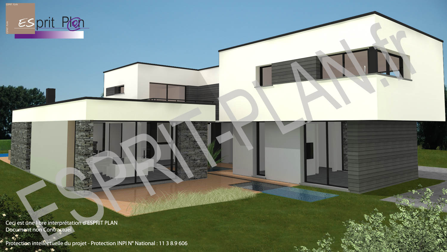 Maison neuve extensions r novations plan de maison for Construction contemporaine