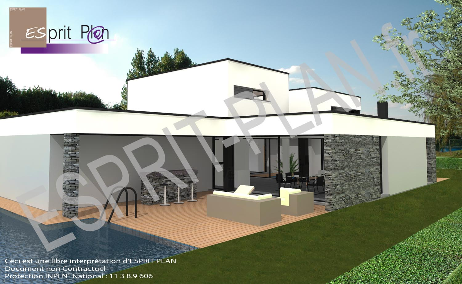 Maison neuve extensions r novations plan de maison for Construction piscine permis