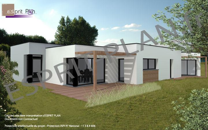 Avant projet maison extensions renovations sur arras lille et nord pas de calais modele - Maison cubique plain pied ...